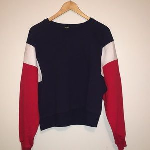 Forever 21 Sweater, Size L, red white blue